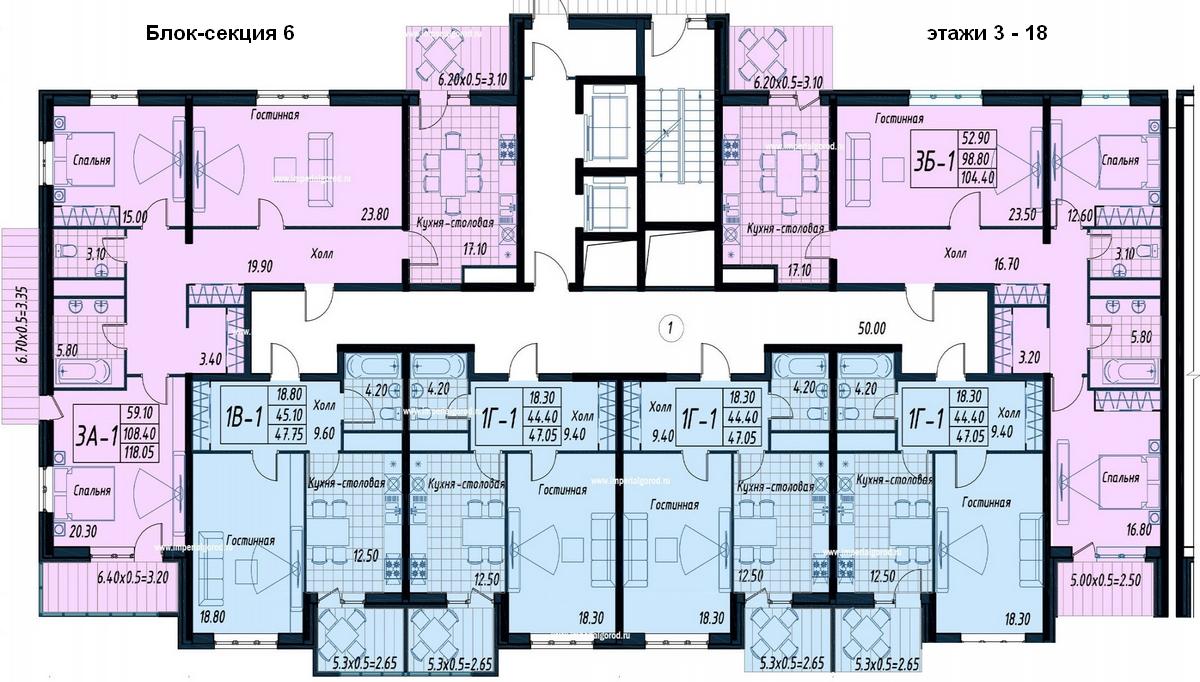 этаж 3-18