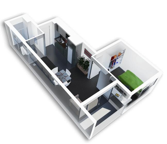 пример 1к. квартиры