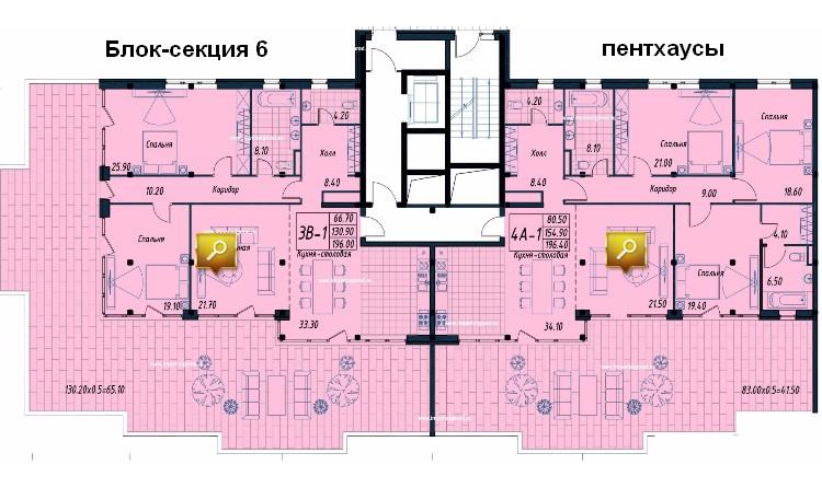 этаж пентхаусов
